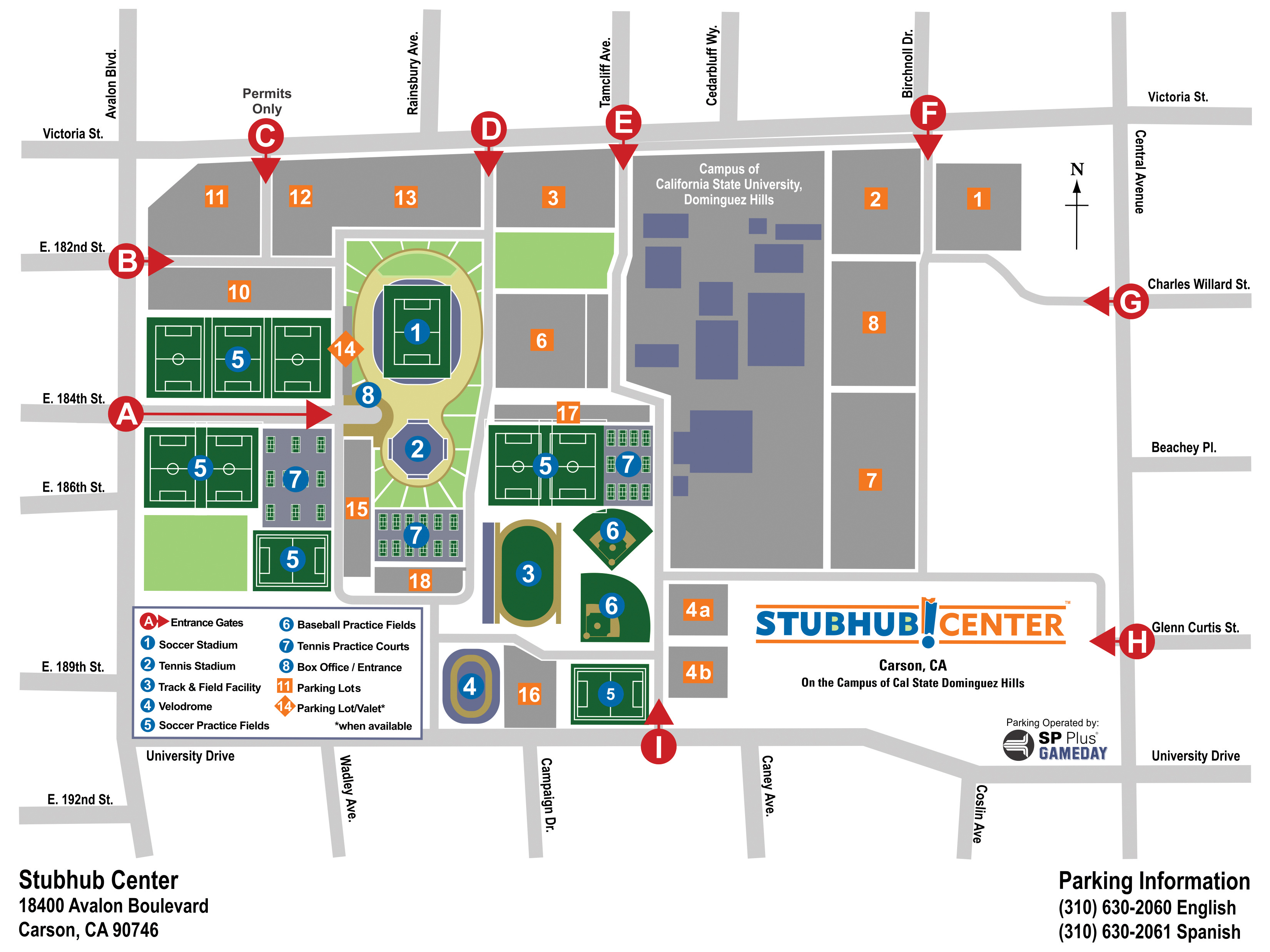 Directions stubhub center for Lax long term parking lot